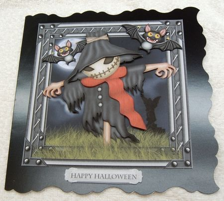Scary Scarecrow Card Front by margaret scott