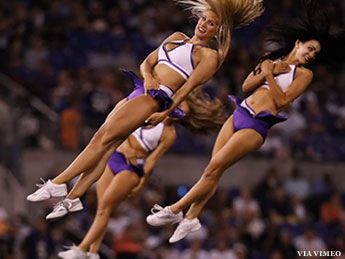 Ravens Cheerleaders Launch 'The Clip Board'
