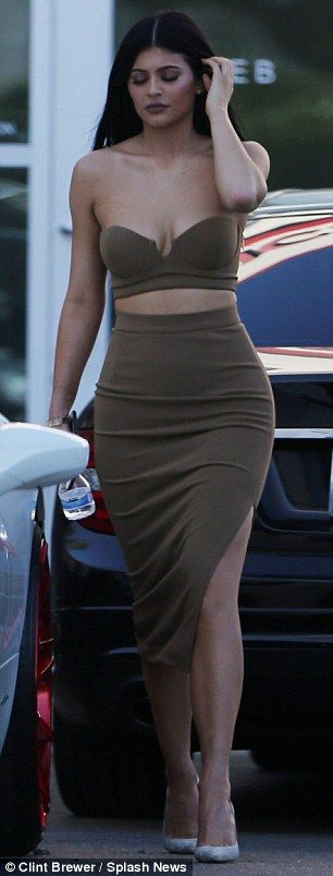 Keeping up: The 18-year-old's outfit looked straight out of big sister Kim Kardashian's wa...