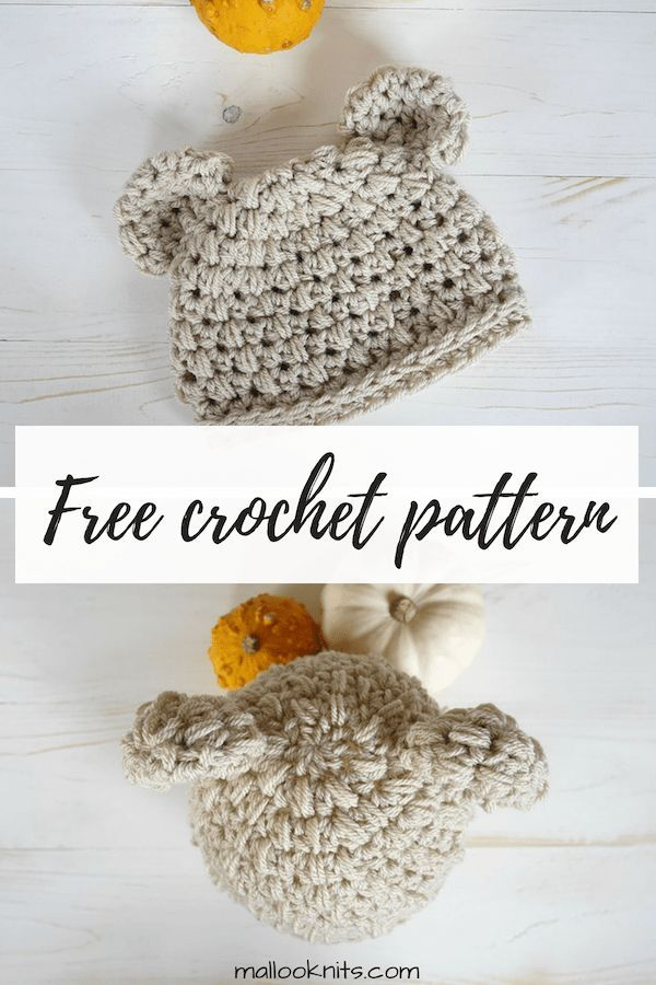 Baby bear crochet newborn hat pattern | Baby clothes & things ...