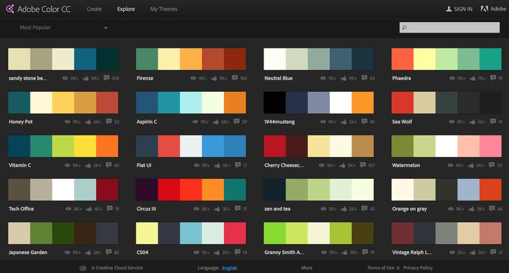 Popular Color Schemes {CLICK TO GO TO THE WEBSITE}