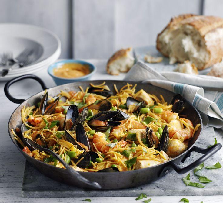 Pasta mussels prawns recipe