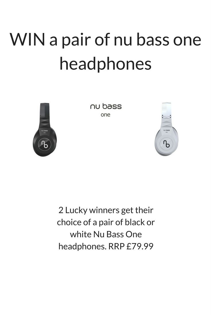 WIN a pair of Nu Bass One headphones