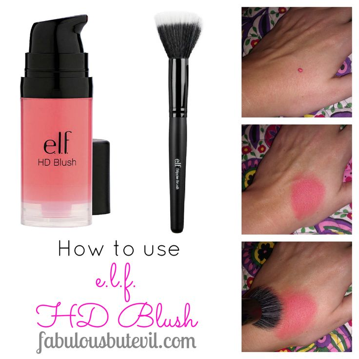 tutorial: how to use e.l.f. HD blush