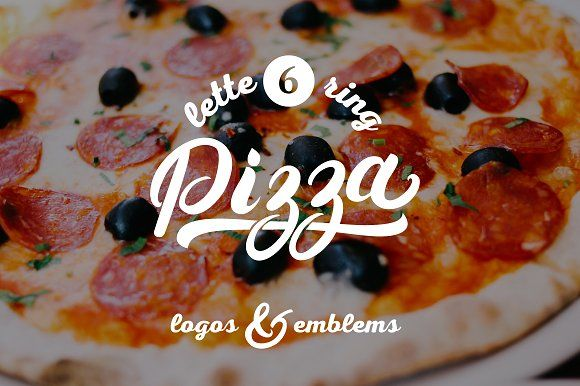 6 Pizza Lettering Logo by Letters-Shmetters on @creativemarket
