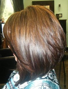 shoulder length stacked bob - Google Search