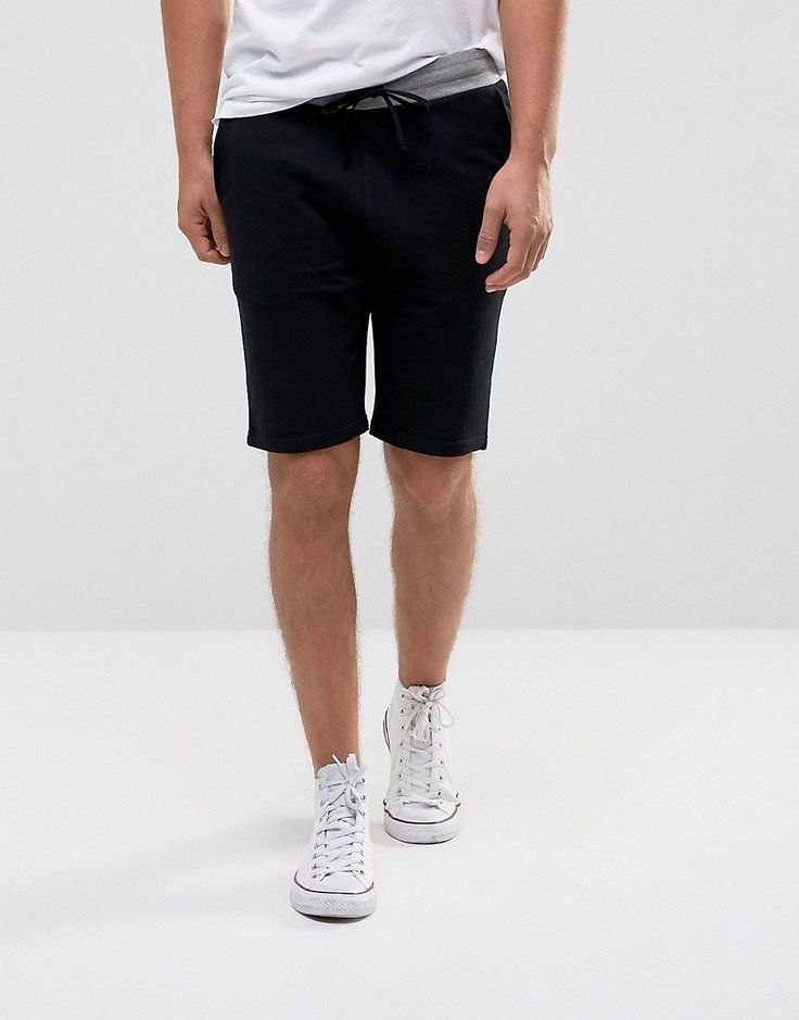 ASOS Skinny Short with Contrast Waistband - Black