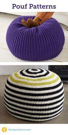 3944 best images about karen 39 s crochet patterns on pinterest afghan crochet patterns crochet - Crochet pouf ottoman pattern free ...