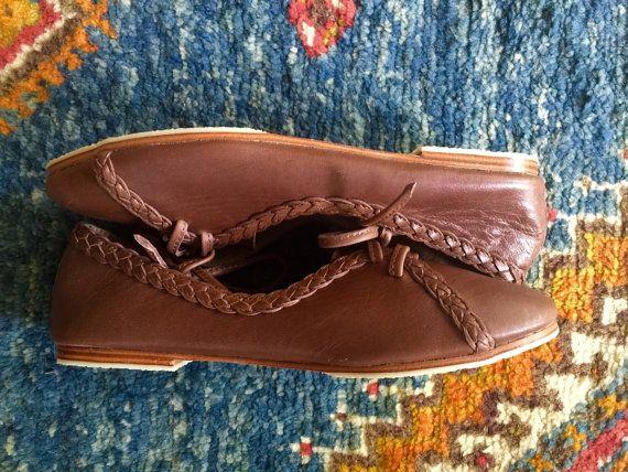 Venta. SZ. 6. SASHA. Pisos de ballet de cuero / zapatos de cuero y encaje hasta pisos de ballet / brown zapatos de cuero para mujer zapatos zapatos planos /womens.