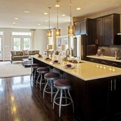 NV Homes Townhome   Andrew Carnagie   Timberlake   New Haven   Cherry Java  Cabinets Floors