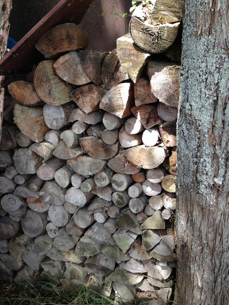 Wood from locally felled trees