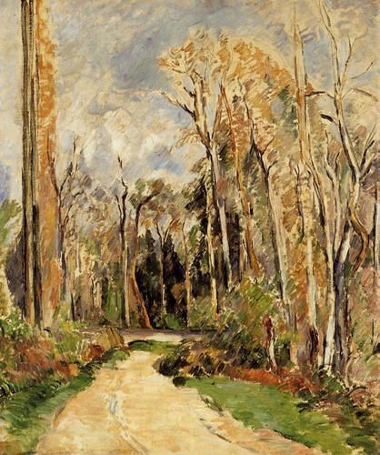Path at the Entrance to the Forest by Paul Cezanne