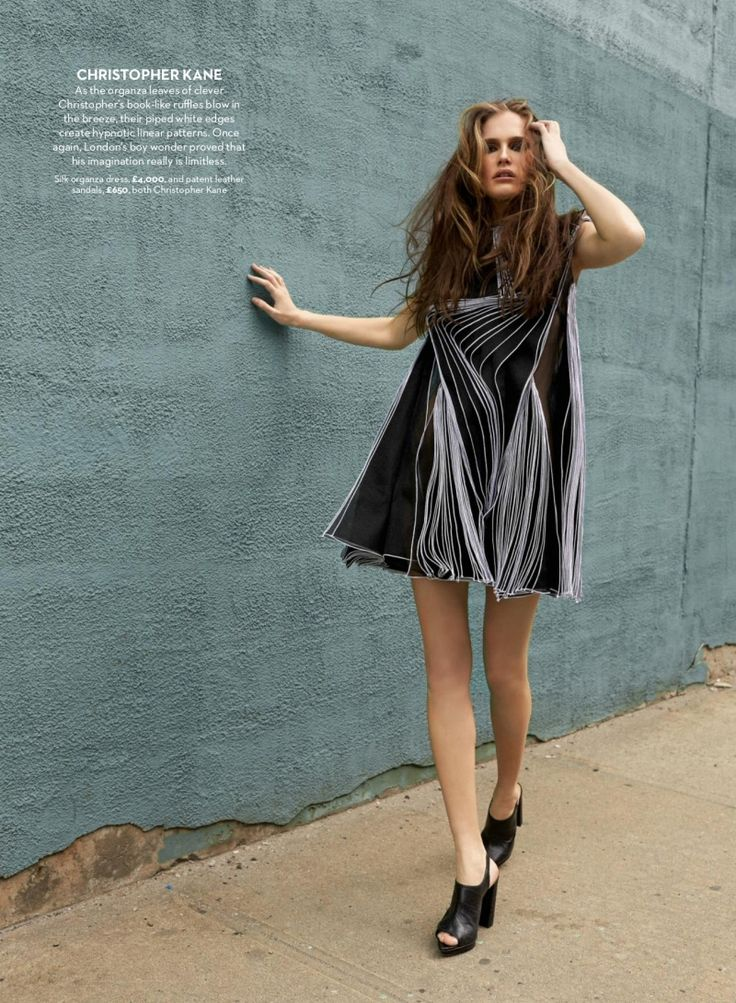 Marie Claire UK Editorial August 2014 - Alla Kostromichova by Patric Shaw
