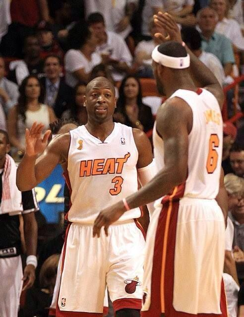 Dwyane Wade and Lebron James of The Miami Heat