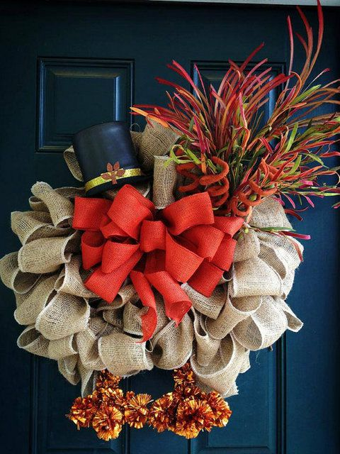 Thanksgiving turkey wreath @Julie Forrest Forrest Forrest Forrest Hassig @Sandra Pendle Pendle Pendle Vanderbeck Heyrich H74  love this!!!