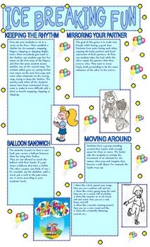 Ice Breaking Fun -Funny Tasks for the Whole Year Class