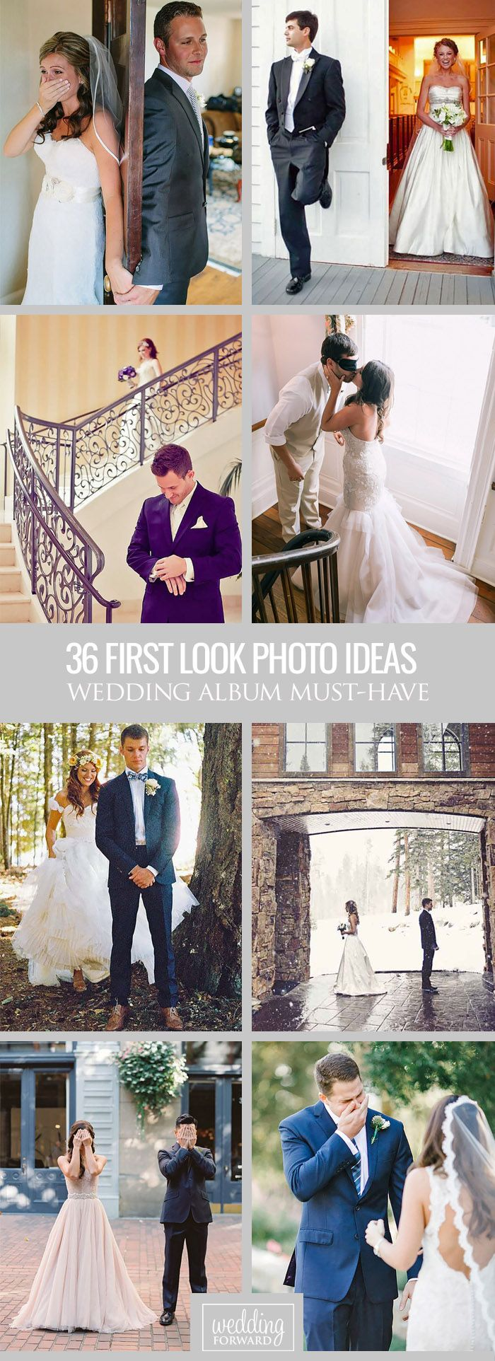 36 Touching First Look Wedding Photos ❤ Many couples chose to break the rule in favour of incredibly romantic first look wedding photos.  See more: http://www.weddingforward.com/first-look-wedding-photos/ #weddings #photo