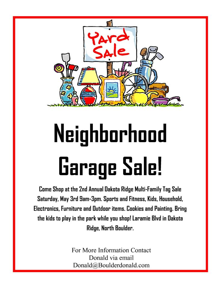 Dakota Ridge Community Garage Sale | May 3rd, 2014