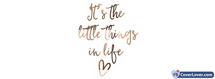 It's The Little Things In Life - cover photos for Facebook - Facebook cover photos - Facebook cover photo - cool images for Facebook profile - Facebook Covers - FBcoverlover.com/maker