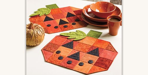 Sew Up a Set for Your Table and For Gifts! Stitch up a set of happy jack-o-lantern place mats to enjoy year after year. You can't help but smile when you see them and they'll set a festive mood for your autumn table. Kids from 2 to 102 will love sitting down to eat with …