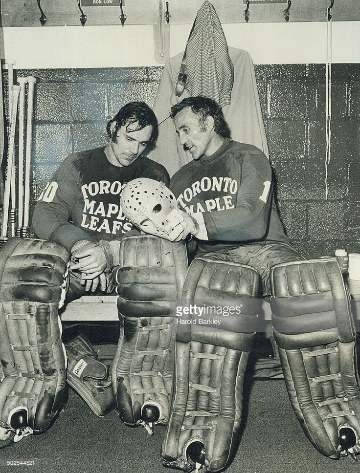 Ron Low and Jacques Plante