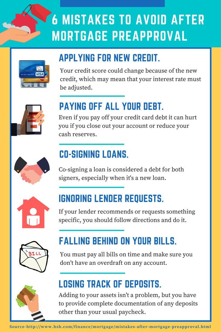 9 mistakes to avoid after mortgage pre approval