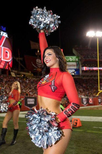 Looks We Love: NFL Cheerleaders' Bold Color Rush Uniforms! Tampa Bay Buccaneers Cheerleaders