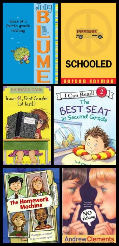 Great books to get the kids ready for the next grade -- add them to your summer reading list with titles for preschool to middle school!