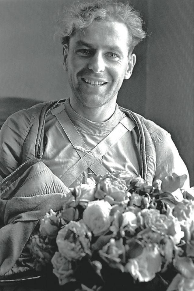 German Titov (1935 – 2000), a Russian cosmonaut, the second human in space. After his space flight, just after the landing.  7 August 1961. #space #Russian #cosmonaut