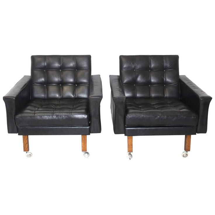 Pair of Leather Armchairs by Johannes Spalt, circa 1959, Austria   See more antique and modern Lounge Chairs at https://www.1stdibs.com/furniture/seating/lounge-chairs