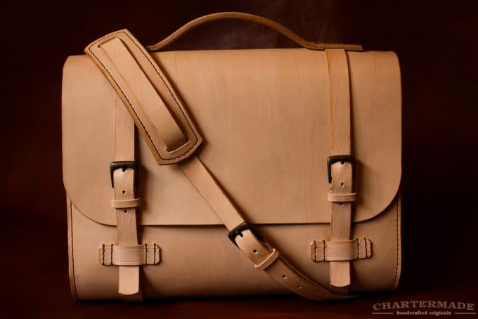 Cambridge Satchel (Natural) by CHARTERMADE