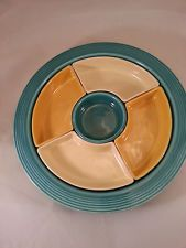Fiesta Vintage Relish Tray Complete Marked Pieces Fiestaware p.258