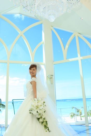 ウェディングドレスショップアトリエアンのブログ » ドレスはパルム☆グアム ジュエルバイザシーで結婚式でした!