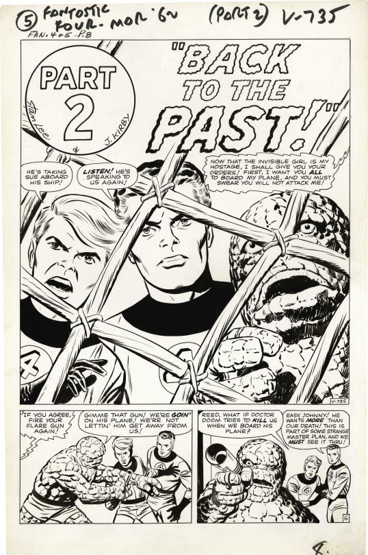 Interior chapter plash from FANTASTIC FOUR #5 by Jack Kirby and Joe Sinnott.