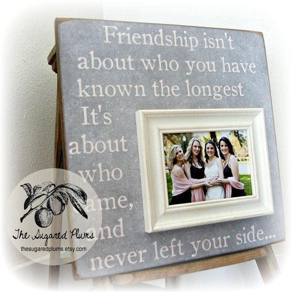 Best Friend Picture Frame Bridesmaid Gift Sister Maid Of Honor 16x16 Wedding The Sugared