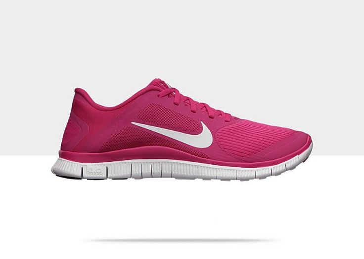 Nike Free 4.0 V3 Running Mujer Fuerza De Color Rosa / Blanco Platino.That's very fashion style.