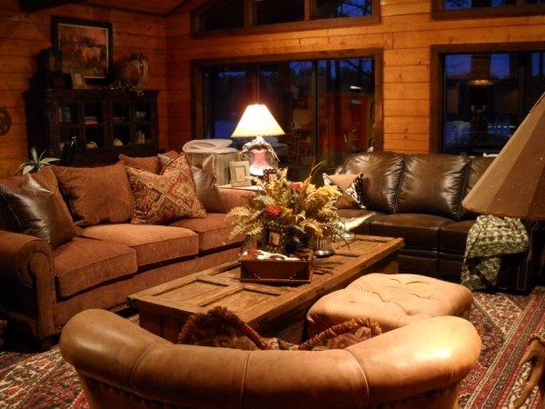 Lake House Living Room - Coleman Cabin  #lodge