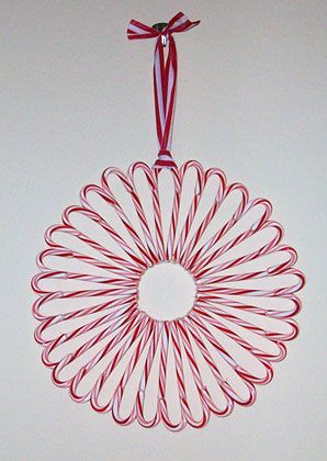 Candy Cane Wreath from Millionayres I love this wreath, Very awesome.