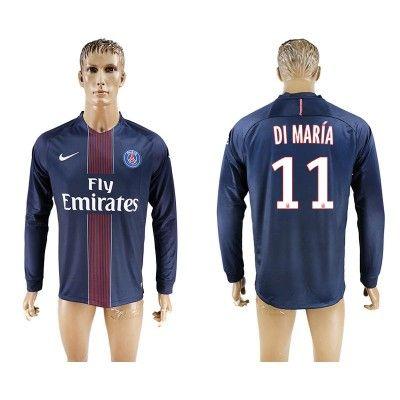 Paris Saint Germain PSG 16-17 Angel di Maria 11 Hjemmebanetrøje Langærmet.  http://www.fodboldsports.com/paris-saint-germain-psg-16-17-angel-di-maria-11-hjemmebanetroje-langermet.  #fodboldtrøjer