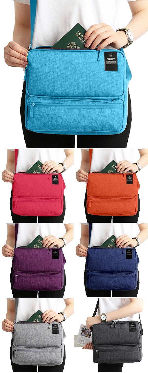 US$14.99 Women Men Unisex Outdoor Large Capacity Functional Shoulder Bag Crossbody Bag