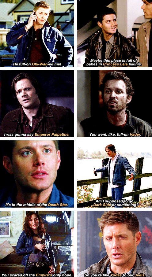 [gifset] Supernatural and Star Wars reference's. (click through for more) #SPN