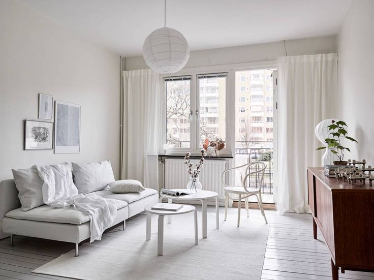 All white home with a vintage touch