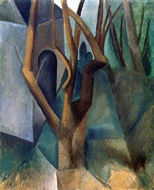 Pablo Picasso:  Landscape. La Rue des Bois or Paris (August or September 1908)