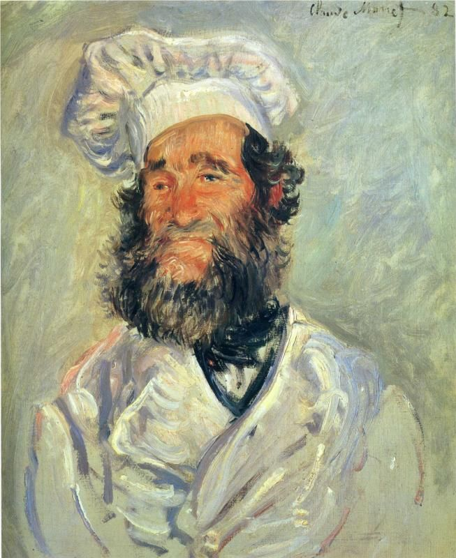 The Chef, Pere Paul, 1882- Claude Monet.  I want this in my kitchen some day.