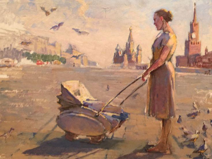 На Красной площади. Год: 1950 г.