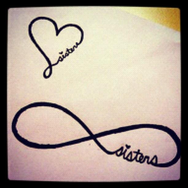 I love the heart one for a sister tattoo idea! @Bridget Hughes and @Ellen Hughes lets get tattoos