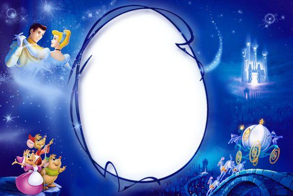 Kids PNG Photo Frame with Princess Cinderella