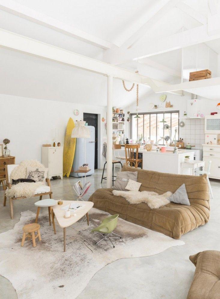 Living Area, Open Home in Biarritz via My Scandinavian Home | Remodelista