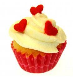 Mini Cupcakes Herzen   – Backdeko, die Du ganz leicht schaffst
