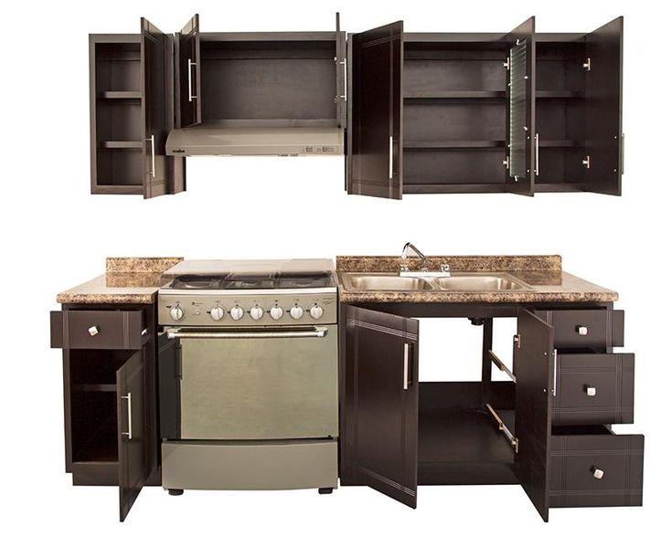 Cocina Ebano 240 cm con 9 Puertas 3126653 | Coppel